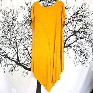 NWT KAKTUS Mustard Lagenlook Dress Layered Look 3X